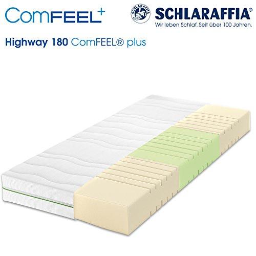 Schlaraffia Highway 180 ComFEEL 7-Zonen Kaltschaum-Matratze H2 (90 x 200cm)