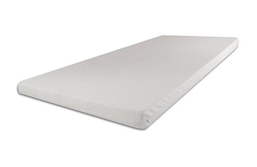 SW Bedding Topper Viscoelastische Matratzenauflage 80 x 200 x 9 cm H3 mit Bezug medicare - 30 Tage Probeschlafen