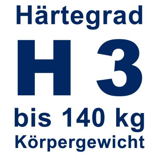 Gigapur 24390 G18 Matratze | 7-Zonen Kaltschaummatratze H3 | Premium Schaumstoff-Matratze mit Klimaband | 180 x 200 cm