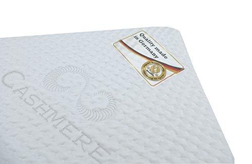 FMP Matratzenmanufaktur 42-0003,viscoelastische Matratzenauflage, Visco-Topper, weiß, 100 x 200 x 8 cm