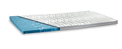 GELAX® | Gel-Schaum Topper Matratzenauflage | 7cm Gesamthöhe | waschbarer Bezug mit 3D-Mesh-Klimaband und Stegkanten | Raumgewicht RG 50 | 180 x 200 cm