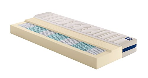 Badenia Bettcomfort Irisette 7-Zonen Tonnentaschenfederkernmatratze Vitaflex TFK Härtegrad 3 (H3), 100 x 200 cm, weiß