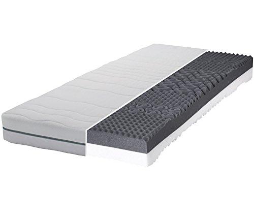 Gigapur Boston 28602 Matratze 7-Zonen Kaltschaummatratze H2 und H3 Komfort Schaumstoff-Matratze Bezug abnehmbar 160 x 200 cm