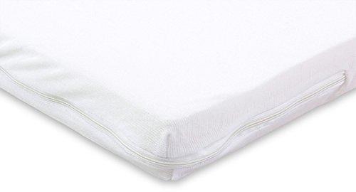 MSS 100300-200.100.7 Viscoelastische Matratzenauflage, RG50, mit Bezug (50% Baumwolle, 50% Polyester), Gr. 100 x 200 x 7 cm