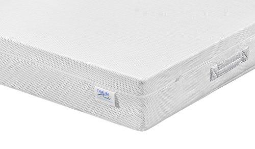 Traumnacht Matratze Bodyprotect 2 in 1 Duo Härtegrad 2 und 3, 90 x 200 cm, weiß