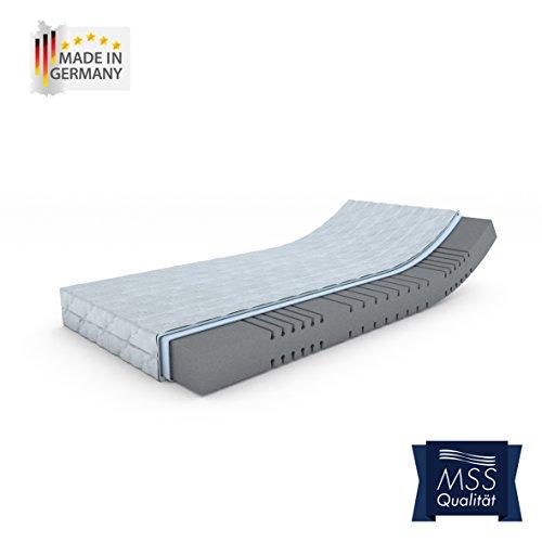 MSS® Mellow-Foam-7-Zonen Kaltschaummatratze H3 / 140 cm x 200 cm / H3 80 bis 100 kg = mittel
