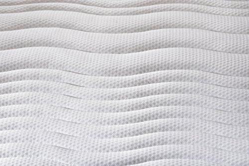 Traumnacht 4-Star Orthopädische 7-Zonen Tonnentaschenfederkern-Matratze Härtegrad 3 (H3), 90 x 190 cm, weiß