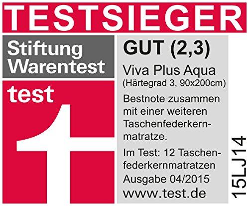 Schlaraffia Viva Plus Aqua Taschenfederkern Plus Matratze 100x200 H3