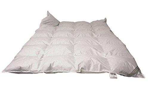 Betten Hofmann Daunen Kassetten Bett 135x200cm 4x6 Karo 1080g Gänsedaunen