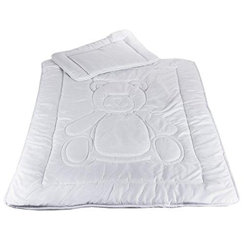 Kinder Bettdecken Set Allergiker geeignet Steppbett 100x135cm Kissen 40x60cm nach Öko-Tex Standard 100 zertifiziert