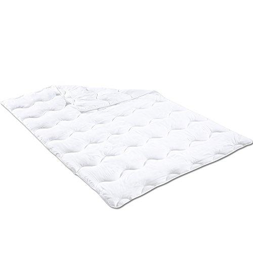 Microfaser Steppbett 155 x 220 cm Oberbett für Allergiker geeignet Bettdecke Einziehdecke bei 60 °C Steppdecke maschinenwaschbar und trocknergeeignet