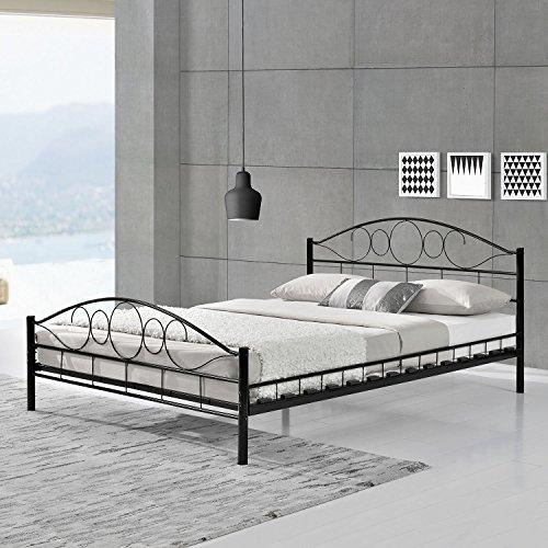 """ArtLife Metallbett """"Toskana"""" - schwarz oder weiß - 140 oder 180 cm breit"""