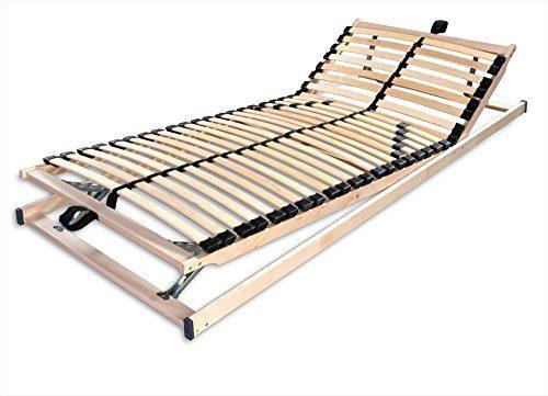Betten-ABC Max1 K+F, Lattenrost, fertig montiert mit Kopf- und Fußteilverstellung, Holm durchgehend