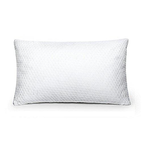 Kopfkissen Sable 40×80 Nackenstützkissen Bett Kissen , Bettwäsche Kissen mit 20% Mehr Füllung und YKK Reißverschluss Atmungsaktive Bambus Faser & Perforiertes Design, Waschmaschinenfest