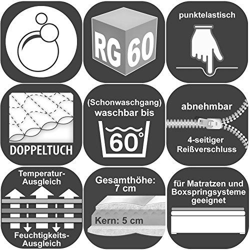 Breckle Gelschaum-Topper Platin Premium, Größe:160x200 cm