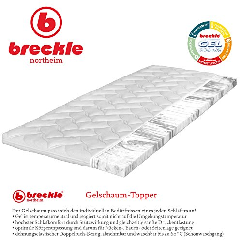 Breckle Gelschaum-Topper, Größe:100x220 cm (Sondergröße)