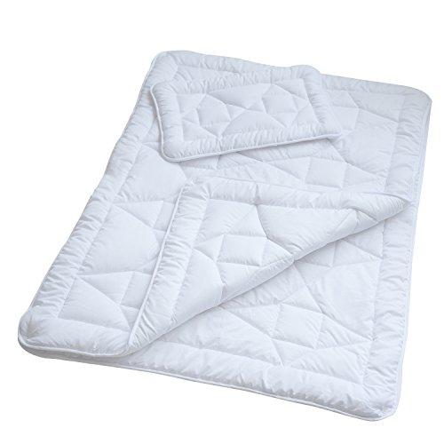 4 Jahreszeiten Bettdecke Microfaser 4 Jahreszeitenbett Steppbett Steppdecke aus Microfaser Allergiker geeignet mit Drückknöpfen