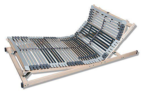7 Zonen Lattenrost MediBalance, 44 Federholzleisten, Mittelgurt, verstellbarer Sitz- und Schlafkomfortrahmen