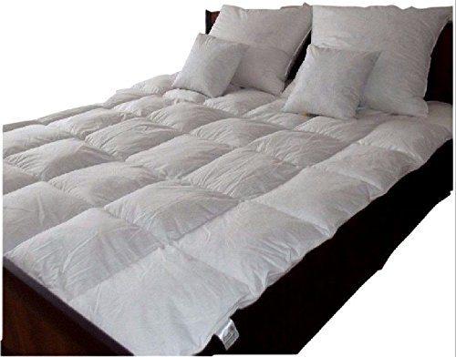 Amazinggirl Daunendecke 135x200 und 155x220 zum Wahl cm warme Premium Winter Bettdecke Daunenbett Steppdecke Daunen Down Douvet Daune mit TASCHE Aufbewahrungstasche