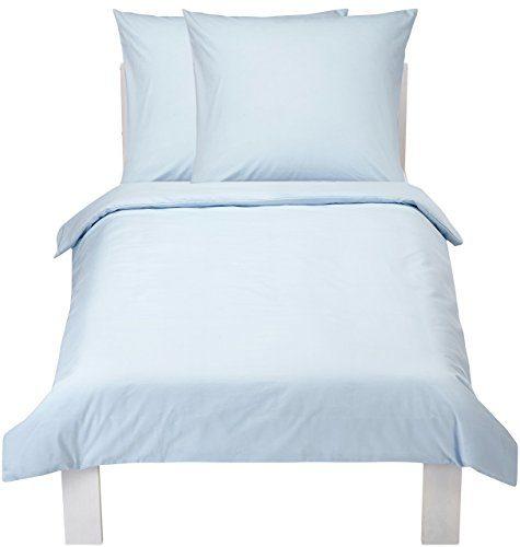 AmazonBasics Everyday 100% Cotton Duvet Set, Blue