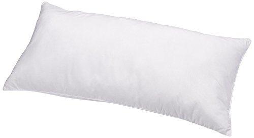 AmazonBasics Kissen mit Schnürung, Bezug: 100% Baumwolle, 40x80 cm, 2er-Set
