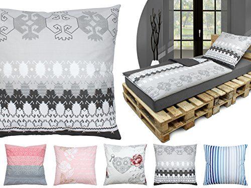 Baumwoll-Bettwäsche - mit verschiedenen Motiven - Set - mit 1 Kissenbezug ca. 80 x 80 cm und 1 Bettdeckenbezug ca. 135 x 200 cm