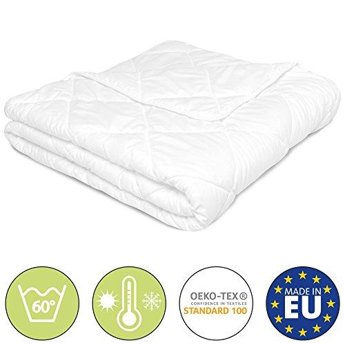 Beautissu BeauNuit SD Sommer Bettdecke 135x200cm oder 155x220cm - Für Allergiker geeignet - Microfaser Steppdecke leicht & atmungsaktiv