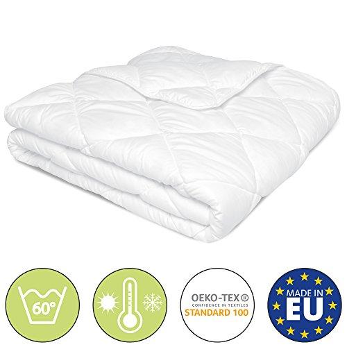 Beautissu Bettdecke 135x200 oder 155x220 cm BeauNuit MD - Allergiker geeignet - Mikrofaser Steppdecke warm Zudecke 800 oder 1000g Füllung