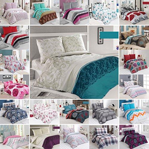 Buymax Bettwäsche Set Bettgarnitur Bettbezug Deckenbezug 2-3 Teilig mit Reißverschluss Baumwolle Oeko-Tex®