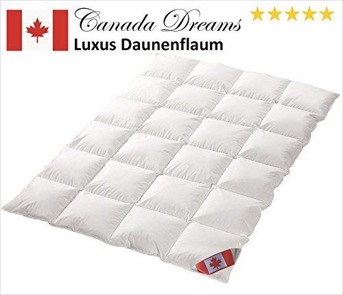 Canada Dreams Luxus extra warmes Winterbett Daunendecke Wärmegrad 5 Luxus Daunenflaum ☆☆☆☆☆