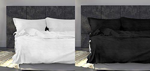 Carpe Sonno Leichtes Seersucker Bettwäsche Set – atmungsaktiver Bettdecken- und Kopfkissen-Bezug aus reiner Baumwolle mit Reißverschluss – kühle Sommerbettwäsche in Premium-Qualität