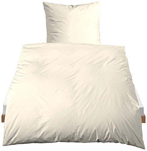 Castell Uni Baumwoll-Linon Bettwäsche Mod.40500, nach Öko-Tex Standard 100, ca. 135 x 200 cm + 80 x 80 cm
