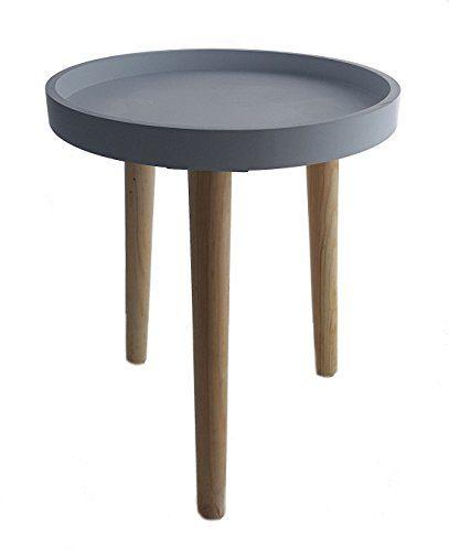 Deko Holz Tisch 36x30 cm - kleiner Beistelltisch Couchtisch Sofatisch