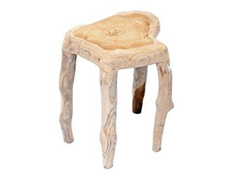 Fair-Shopping Beistelltisch Couchtisch Sofatisch Nachttisch Teak-Holz Naturtisch 301565 60 cm Hoch