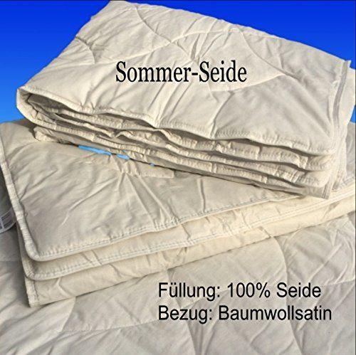 Frankenstolz Sommer-Bettdecke 100% Seide Sonderposten Bezugsstoff 100% Baumwolle