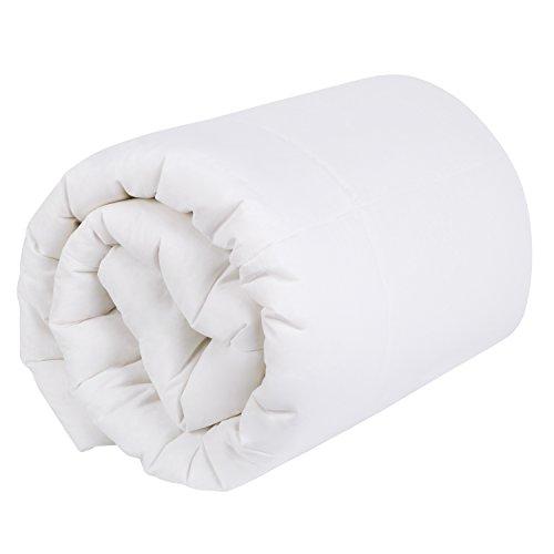 HOMFY Ganzjahres Bettdecke 135×200cm Steppdecke atmungsaktiv und allergikergeeignet, weiß