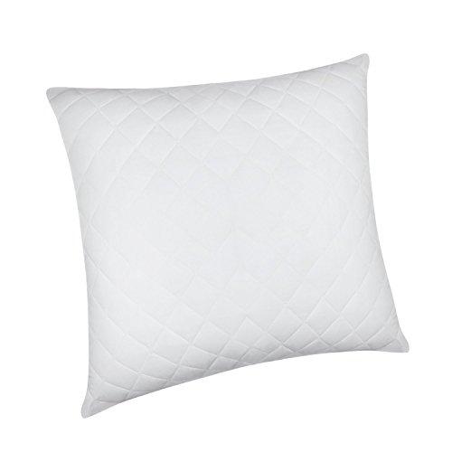 HOMFY hochwertiges Kopfkissen 80x80, weich Kissen gefüllt mit  Baumwolle  feutigkeitsregulierende Polyesterhohlfaser, Softes Gewebe, Weiß