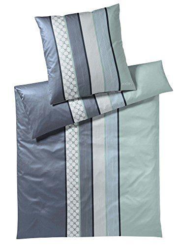JOOP! Bettwäsche Kissenbezug Cornflower Stripes l Größe 40x80 l Farbe Deap Sea l Reine Baumwolle