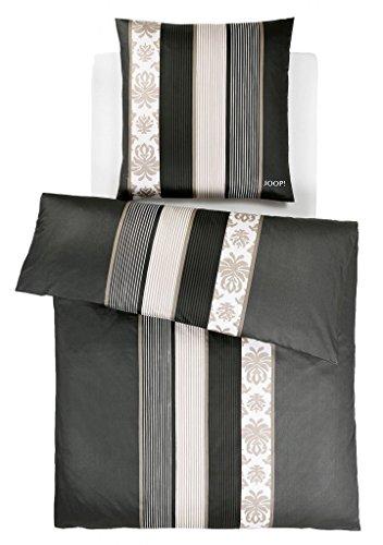 JOOP! Bettwäsche Ornament Stripes schwarz 4022-09 Mako Satin