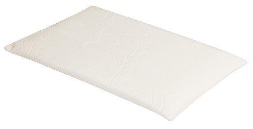 Julius Zöllner 4340110001 Dryfeel Babykissen mit Baby Fresh & Dry Bezug ohne Kuhle, Grösse 40 x 60 cm, weiß