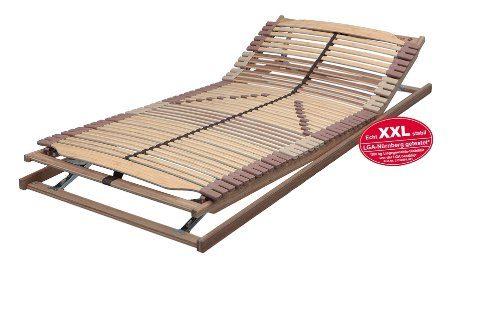 Lattenrost PANDA-SUPERFLEX XXL KF verstellbar in 120x200 cm bis 200 kg getestet - SOFORT LIEFERBAR