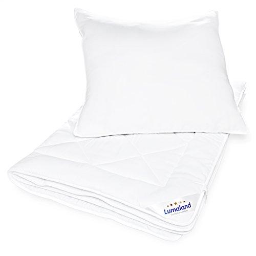 Lumaland Deluxe Bettwaren Set Mikrofaser Bettdecke Kopfkissen aus unserer Comfort Line