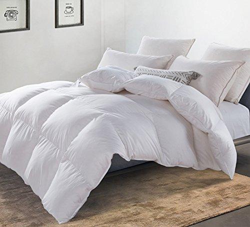 MoSurprise Premium Daunendecke 950g 100% Gänsedaunen Luxus 4 Jahreszeiten Warm Daunen Bettdecke Hypoallergene Ganzjahresdecke 135 x 200 cm Weiß