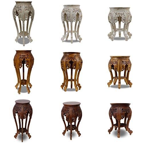 Oriental Galerie Beistelltisch Nachttisch Rundhocker Blumenhocker Teak Holz Hocker Barock Massiv