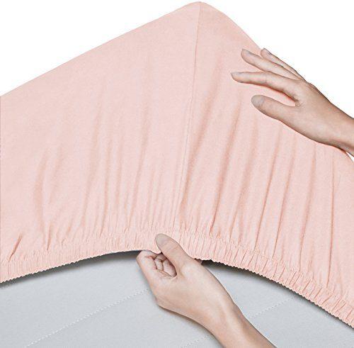 Pinzon - Spannbetttuch, aus Bio-Baumwolle, Fadenzahl 300, 2er-Pack