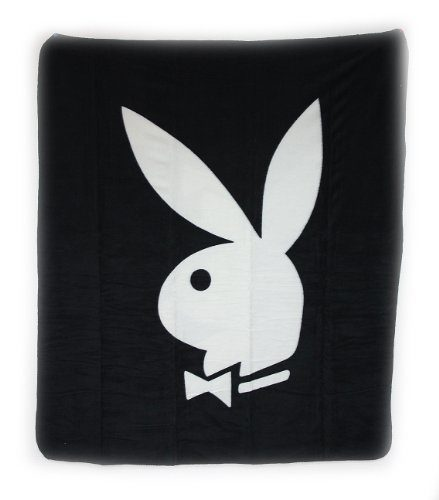 Playboy Fleece-Decke Classic schwarz 130 x 150 cm