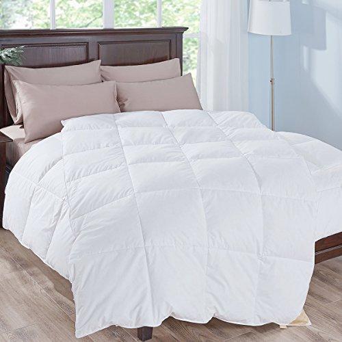 Puredown 90% weiße Gänsedaunen Füllung Hochwertige Weich Bettdecke Steppdecke, 100% Gänseflaum, Europäische Qualität, Medium Warm