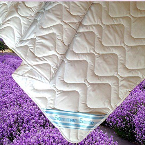 Revital SEIDE Sommer Bettdecke Sommerdecke 60% Seide, 40% Baumwolle waschbar Sommerbettdecke