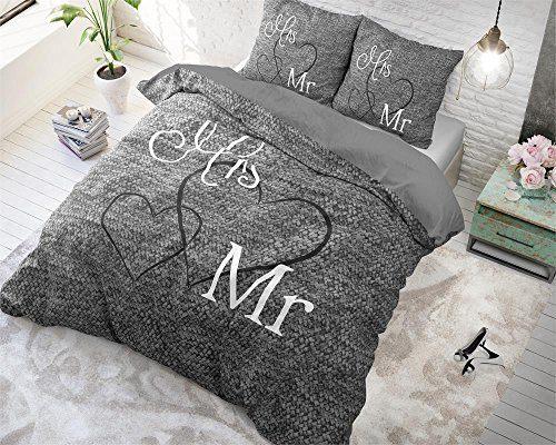 SleepTime Bettwäsche Baumwolle Mr. And Mrs. 3