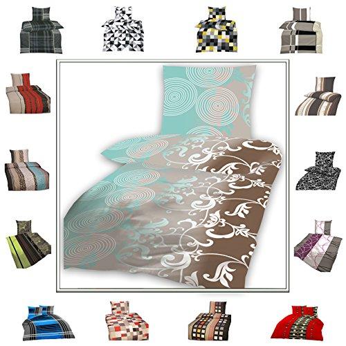 TOP Bettwäsche Garnitur in vielen Qualitäten und Größen mit RV in über 30 verschiedenen Mustern